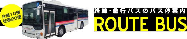 路線・急行バスのバス停案内